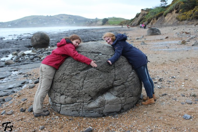 "I said ""a little less like idiots"". We still look like idiots, of course. We're hugging a stone, after all"