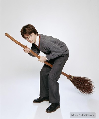 Daniel Radcliffe on broomstick
